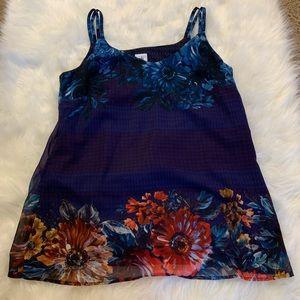 CAbi Floral Camisole Size Medium Style 3434